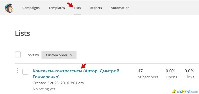 Список рассылки из ПланФикса в MailChimp