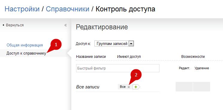 Управление доступом к справочнику паролей в ПланФиксе