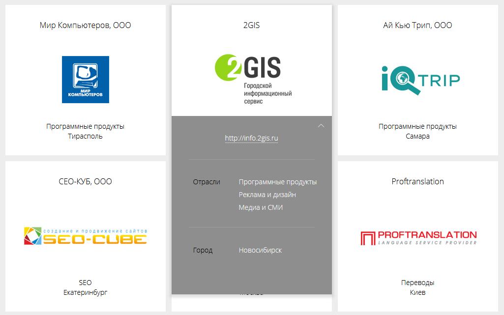 Подробная информация о компании-клиенте ПланФикса