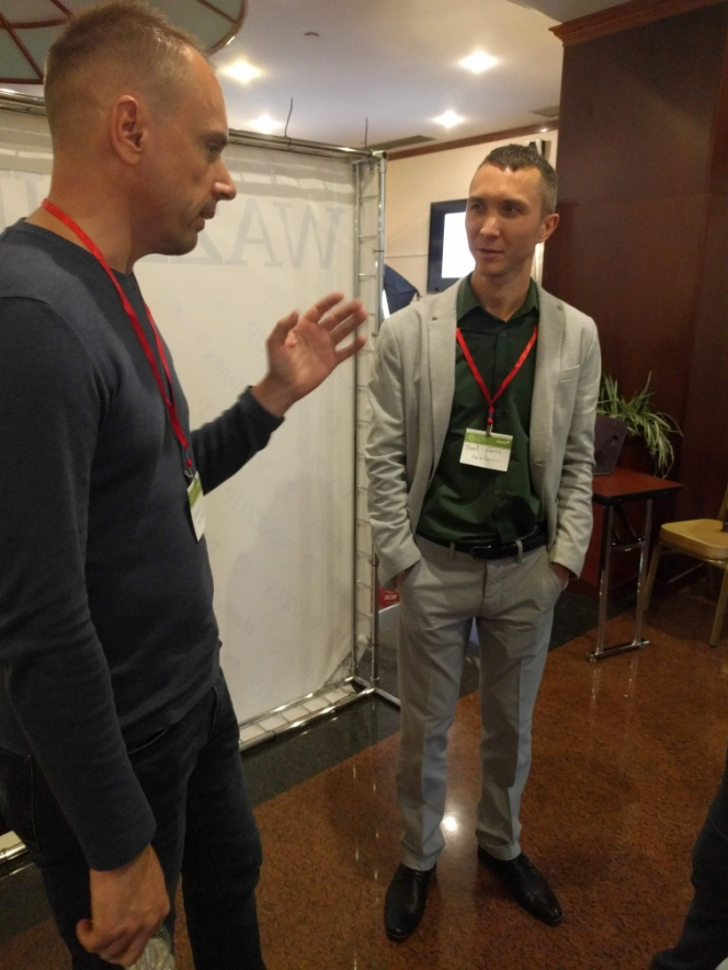 Сергей Улаев и Дмитрий Гончаренко на Первой конференции интеграторов ПланФикса